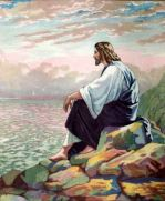 Jesus Sitting on a Mountain by the Sea of Galilee Matthew 15:29