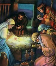 Wise men giving gifts to the new born king Matthew 2:11