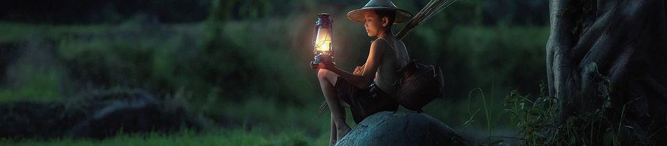 boy lantern